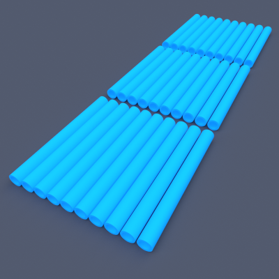 AstroLogix Blue Tubes (30 pieces)