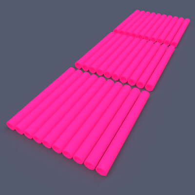 AstroLogix Pink Tubes (30 pieces)